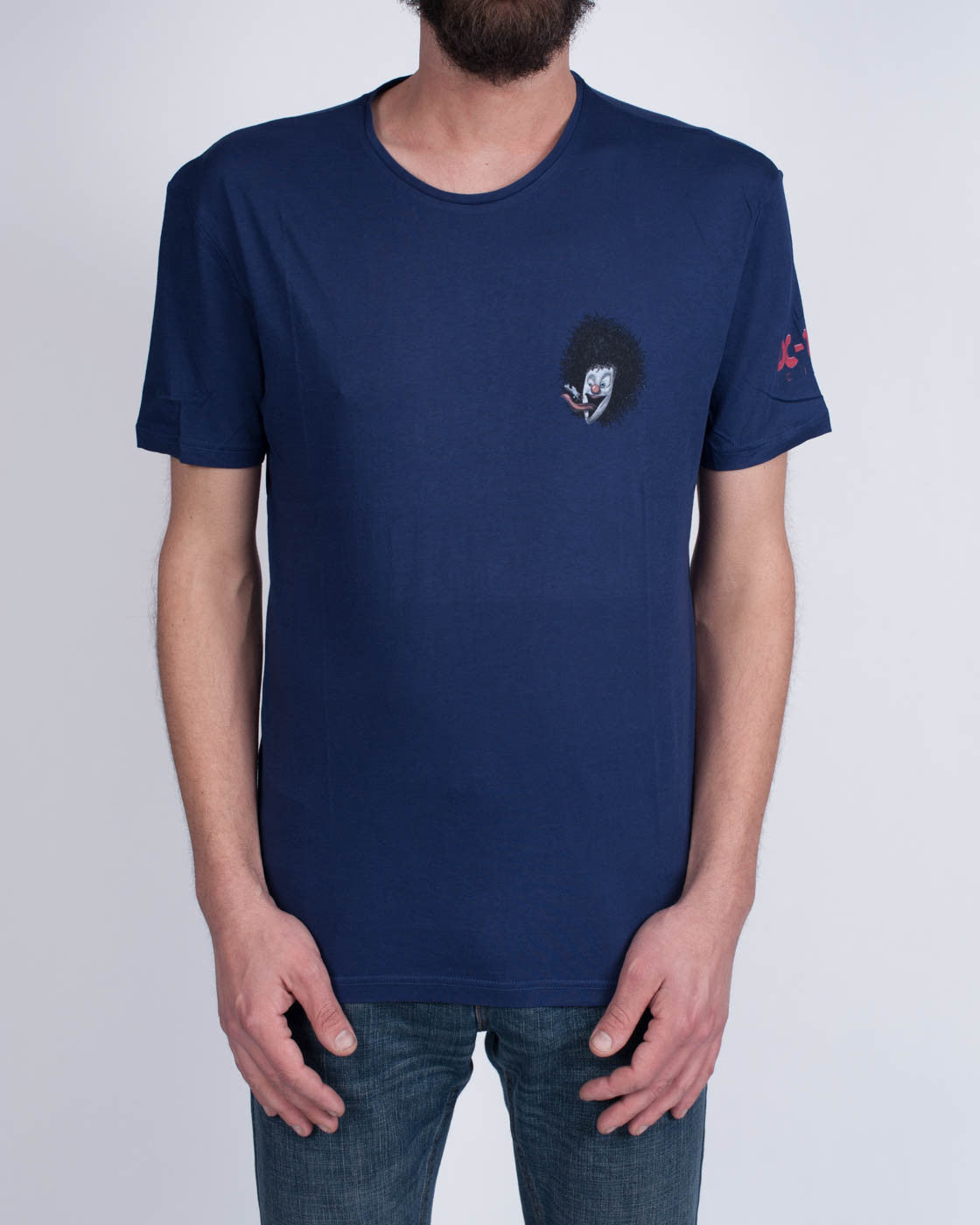 DC10 CIRCOLOCO Small Navy Clown T-Shirt