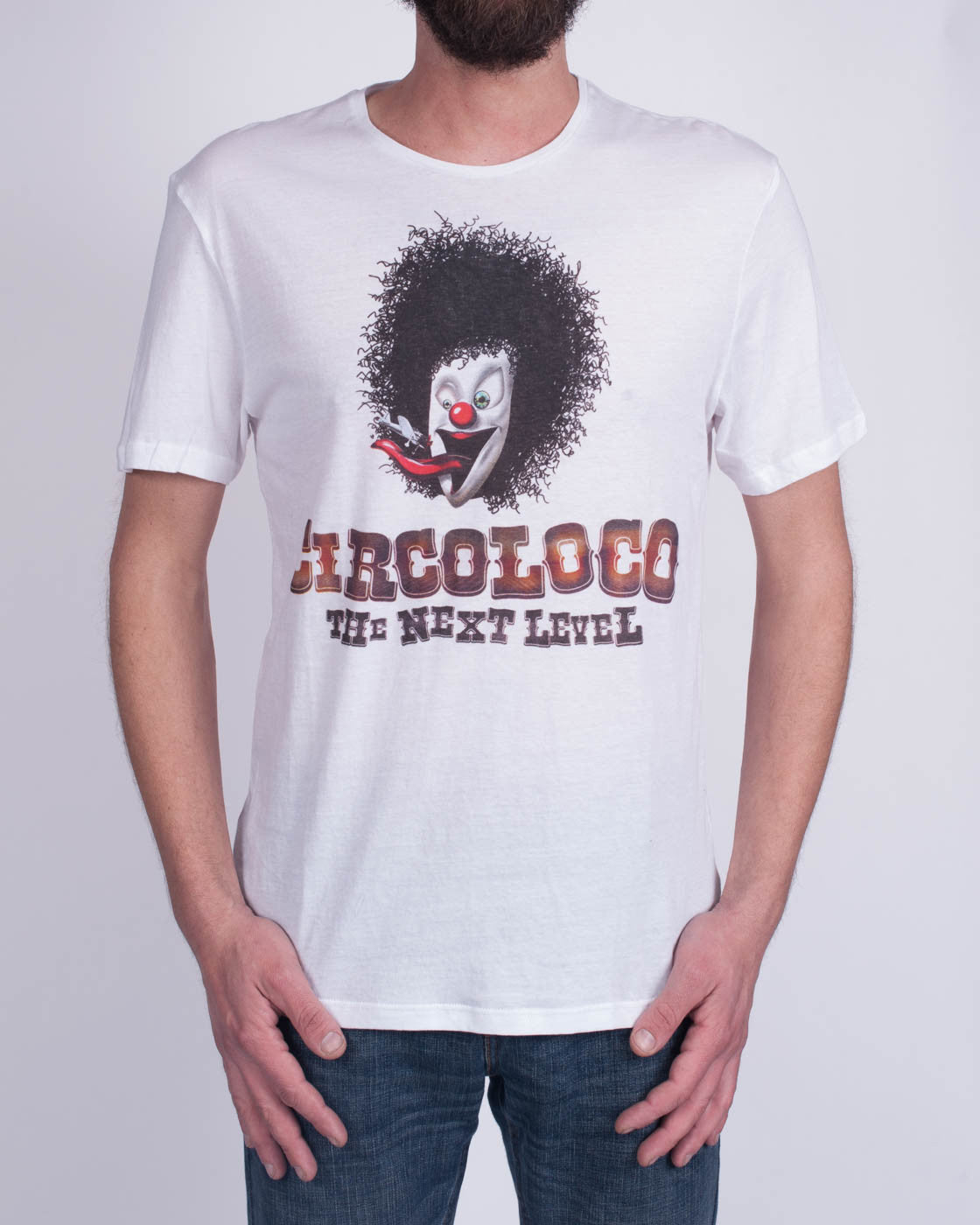 DC10 CIRCOLOCO Large White Clown T-Shirt
