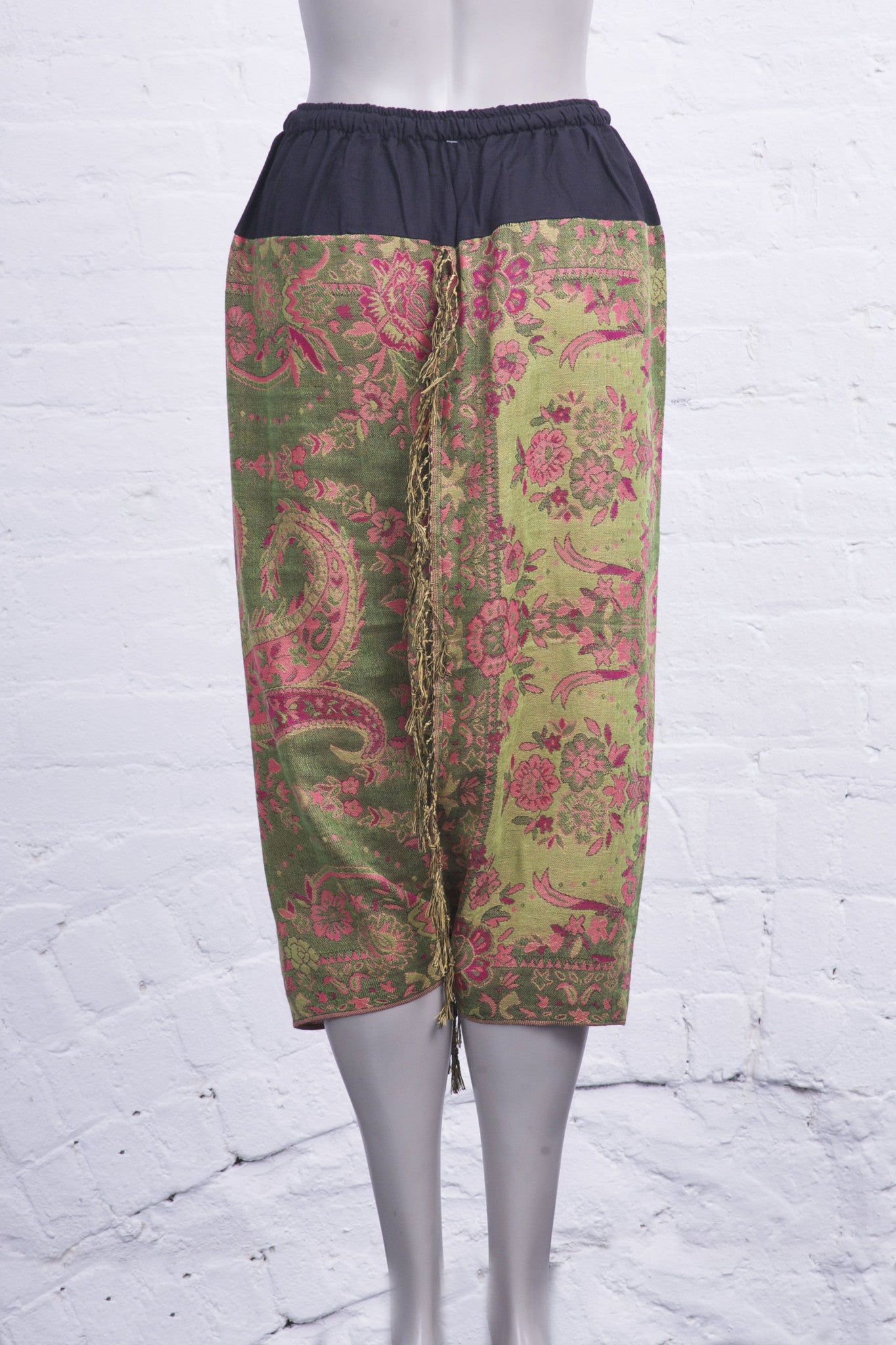 Fringe Harem Pants Shades of Green