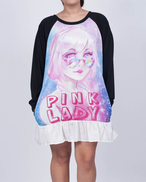 Pink Lady Sweatshirt Dress