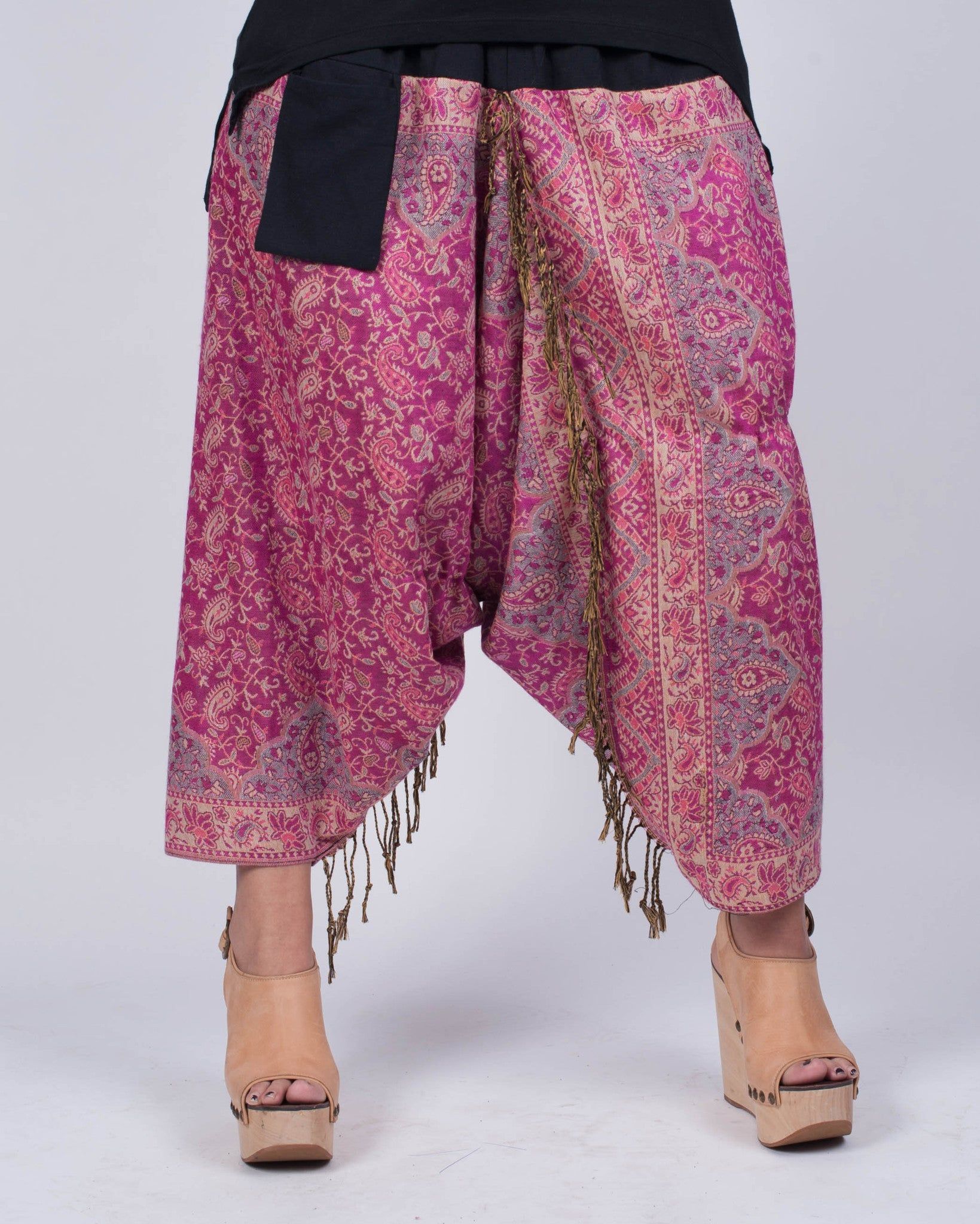 Fringe Harem Pants Very Berry