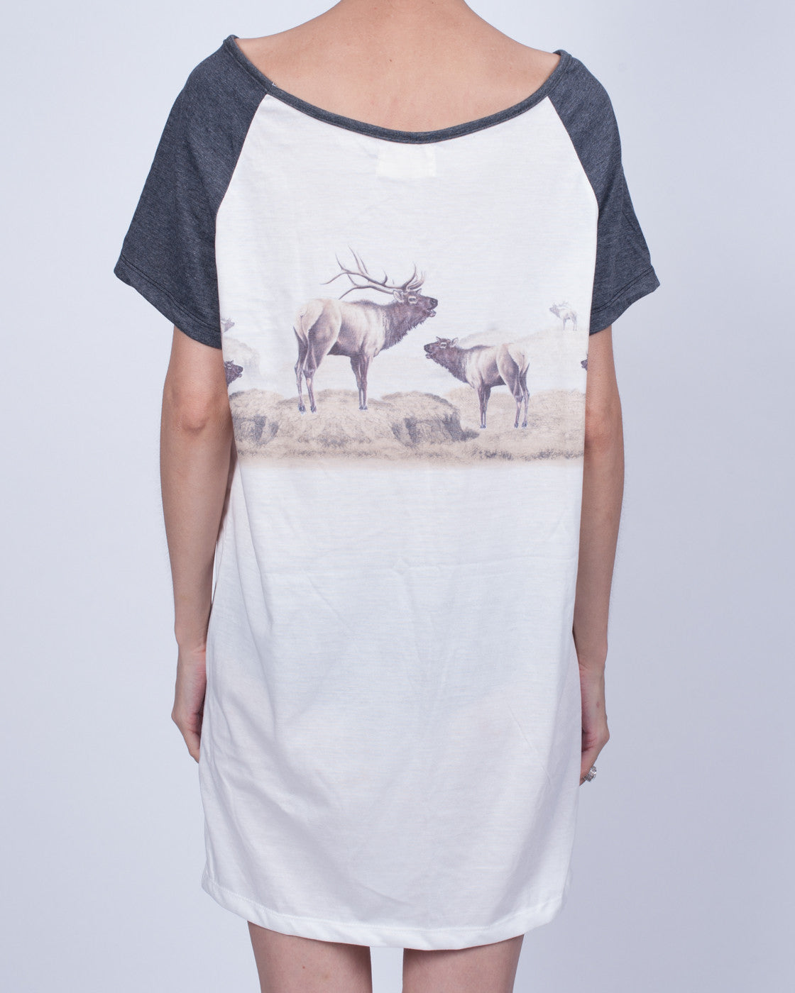 Elk Party T-Shirt Dress