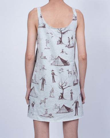 Camping Skeletons Dress Light Blue