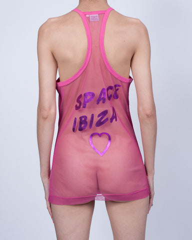 Space Sexy Disco Racer Back Tank
