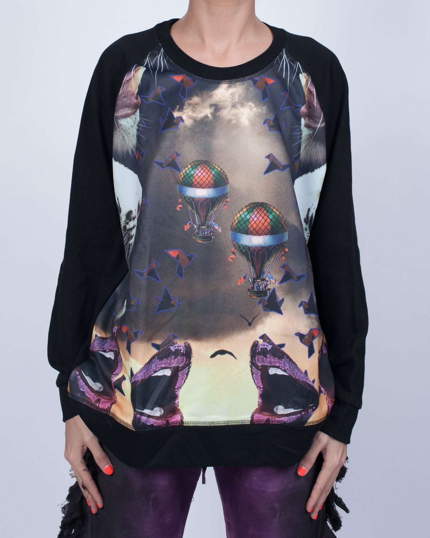 Glitter Lips and Hot Air Balloons Sweatshirt
