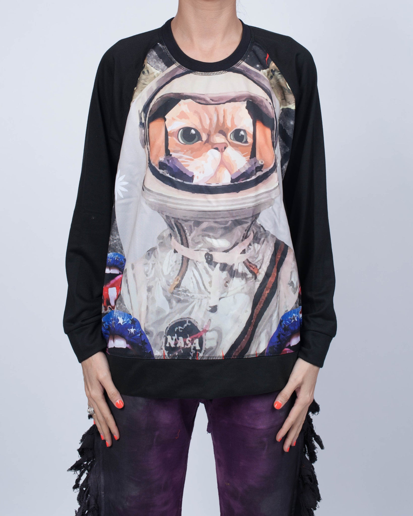Cat on the Moon Sweatshirt