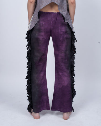 Fringy Drawstring Pants Deep Fall Colors