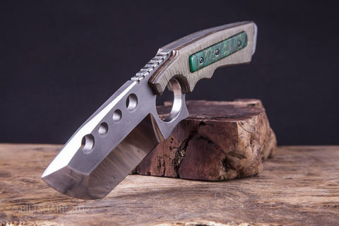 Court Marshal Fixed Blade - Bronze & Green Jade