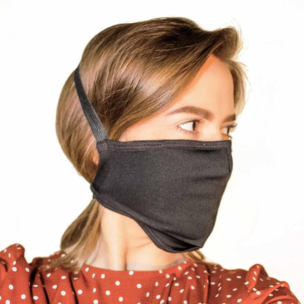 Designer Black Face Mask with Filter Pocket - Made in the USA