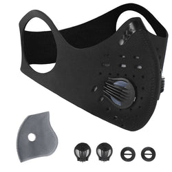 Activated Carbon Neoprene Face Mask - Made in USA