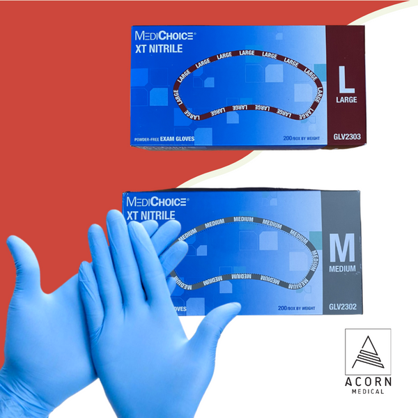 Nitrile gloves are ideal for moderate to high-risk situations where exposure to blood, bodily fluids, and other potentially infectious material poses a risk to healthcare workers. Like latex, nitrile gloves form tightly to the hand and can be used for precise tasks without exposure to latex proteins, which for some clinicians and patients can create allergic reactions.