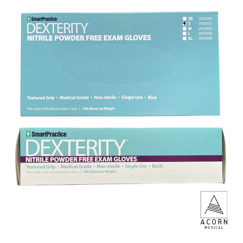 100 Ct SmartPractice Dexterity Exam Nitrile Gloves (Small)