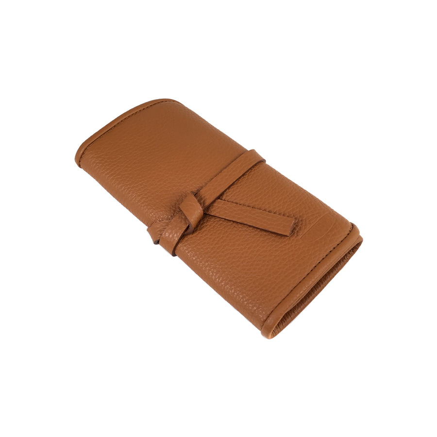 Etui pour 2 montres - Miel / Watch pouch for 2 - Honey