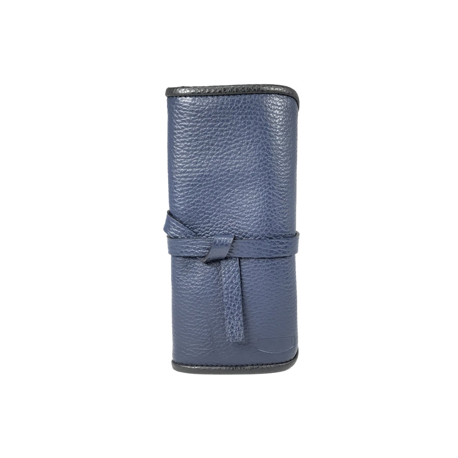 Etui pour 2 montres - Bleu Marine / Watch pouch for 2 - Dark Blue