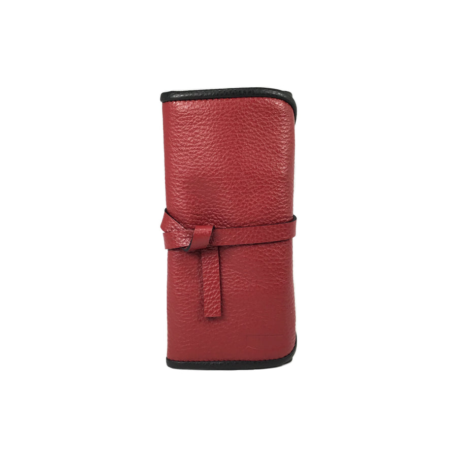 Etui pour 2 montres - Rouge Carmin / Watch pouch for 2 - Dark Red