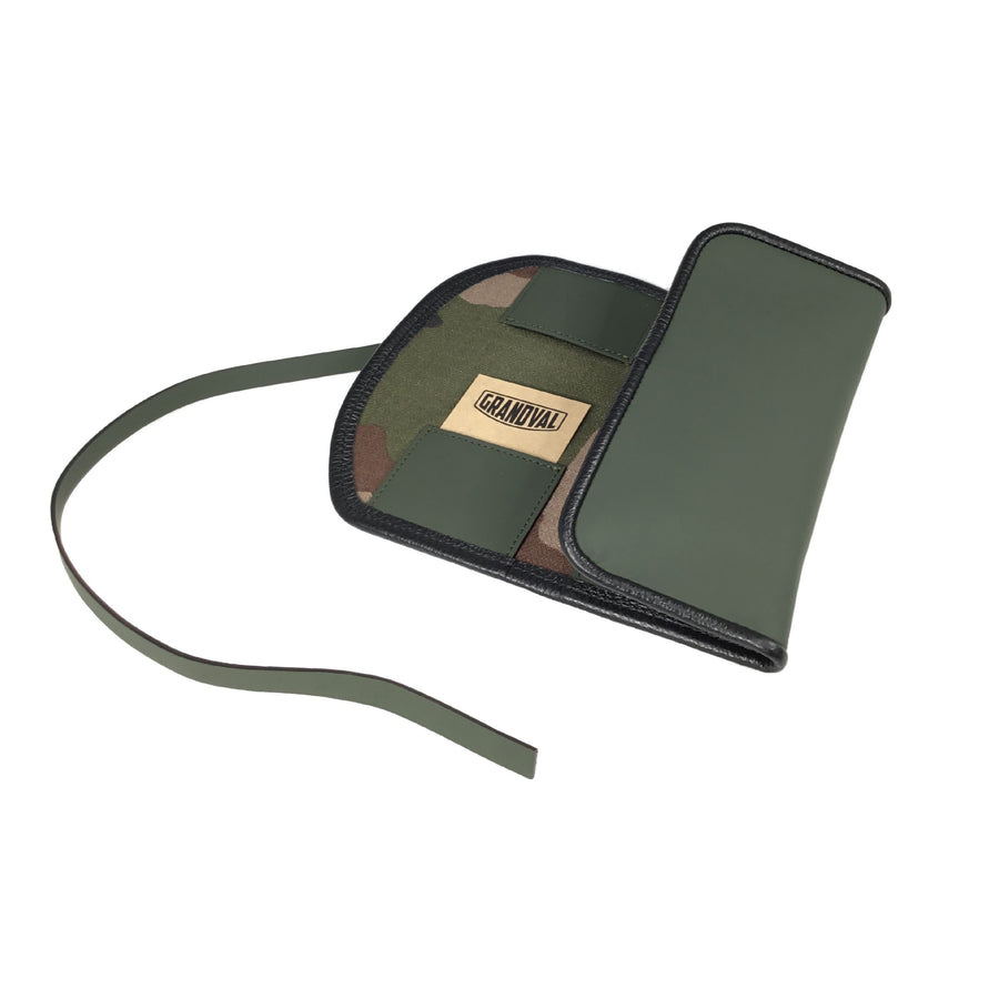 Etui pour 2 montres - Kaki / Watch pouch for 2 - Khaki Green