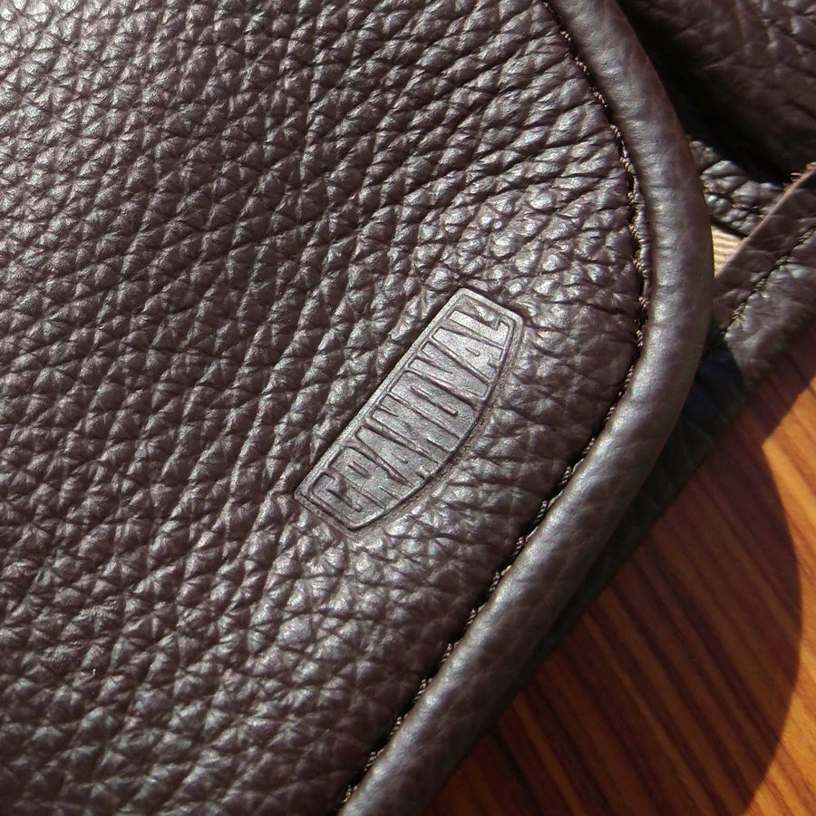 Etui pour 2 montres - Marron / Watch pouch for 2 - Chocolate Brown