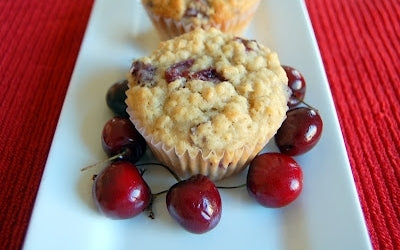 Cherry Oatmeal Muffins (Frozen Pitted Tart Cherries)