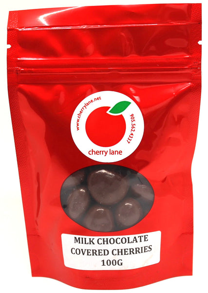 Milk Chocolate Covered Dried Montmorency Cherries 100 g