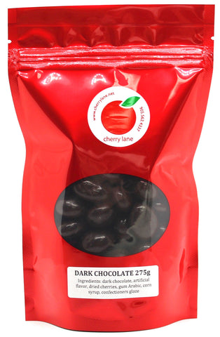 Dark Chocolate Covered Dried Montmorency Cherries 275g