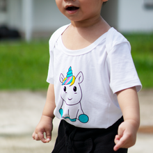 Load image into Gallery viewer, anak and i sg bamboo cotton unicorn onesie baby and toddler