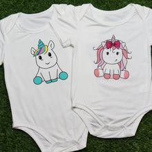 Load image into Gallery viewer, anak & i sg anak and i sg bamboo cotton unicorn onesie baby and toddler