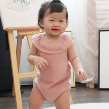 Load image into Gallery viewer, Dawn Tulip Pink Ribbed Onesie
