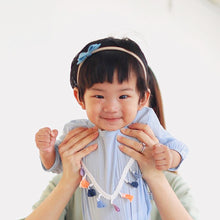 Load image into Gallery viewer, [Anak & I x Janessa Hye] Jeanette Tassels Onesie Blue with Headband Set