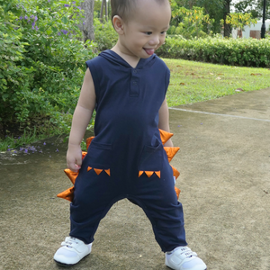 baby boy and toddler jumpsuit overalls dinosaur cotton children clothes
