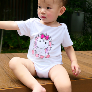 pink unicorn children clothes baby and toddler girl onesie romper bamboo cotton