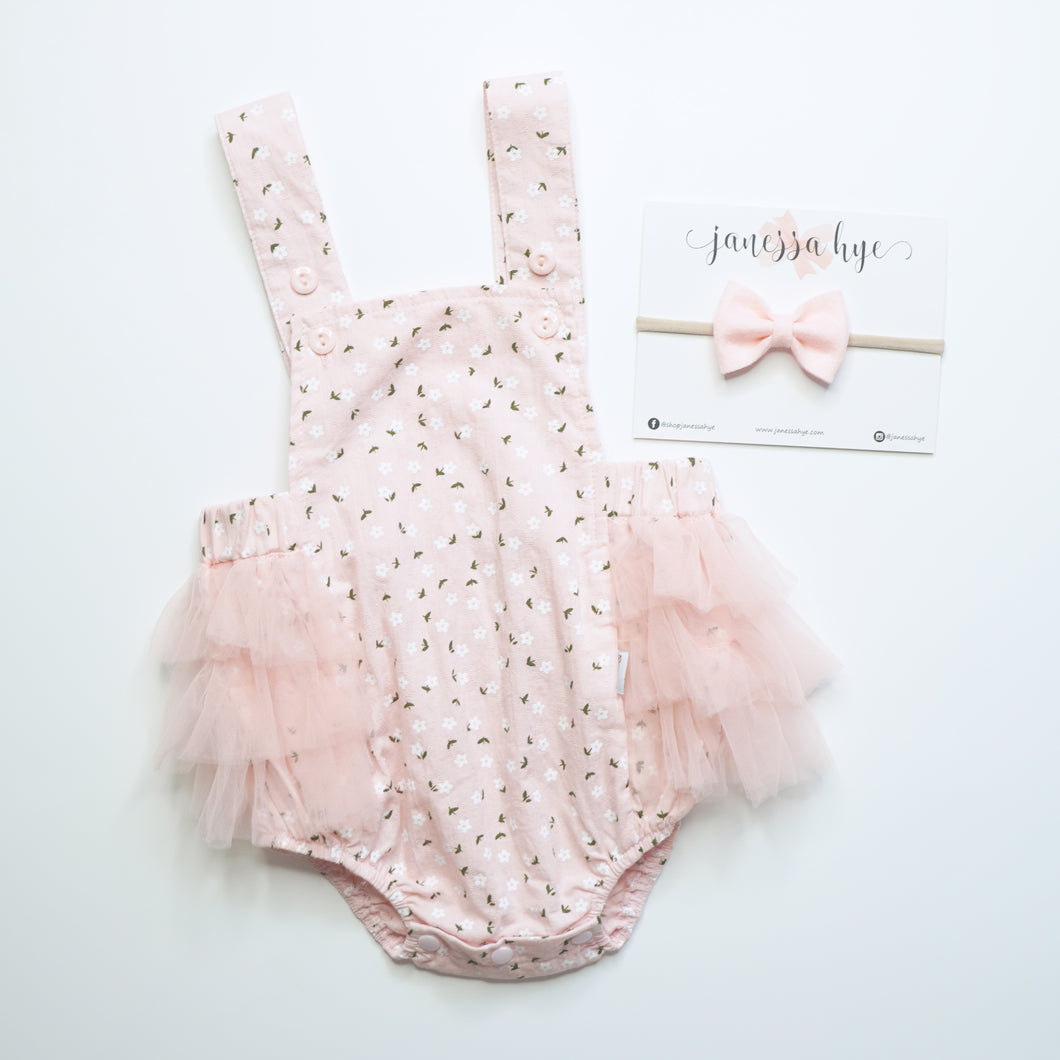 [Anak & I x Janessa Hye] Jermaine Embossed Tulle Romper with Headband Set