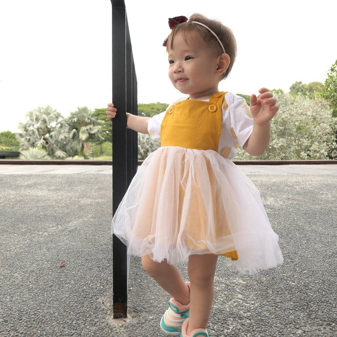 Hazel Tulle Dress baby girl - Mustard - Anak and I