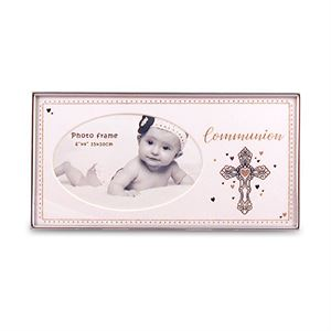 Holy Communion Glass Photo Frame