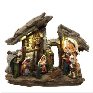 NATIVITY SCENE WITH LED