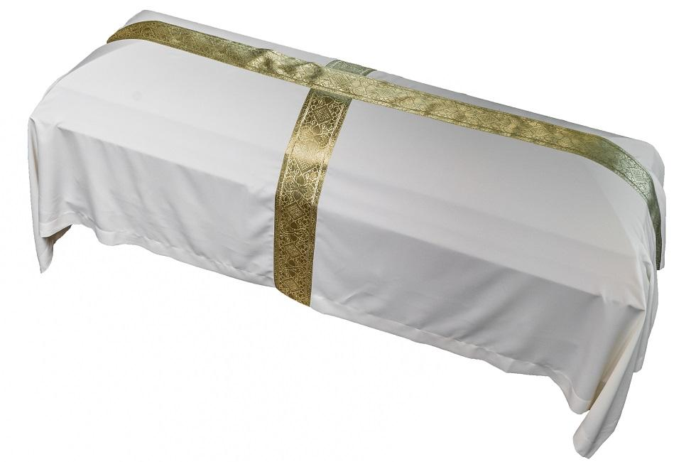 075 Gold Cross  Funeral Pall
