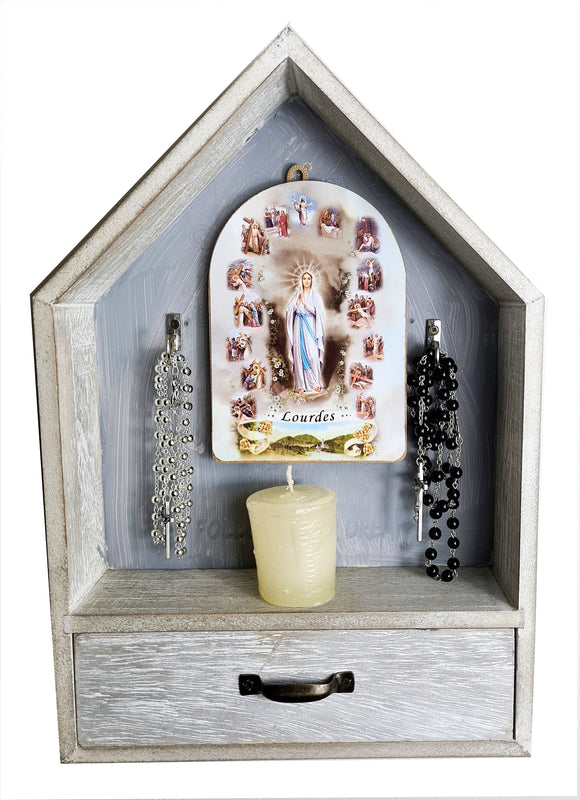 Rosary shelf with draw