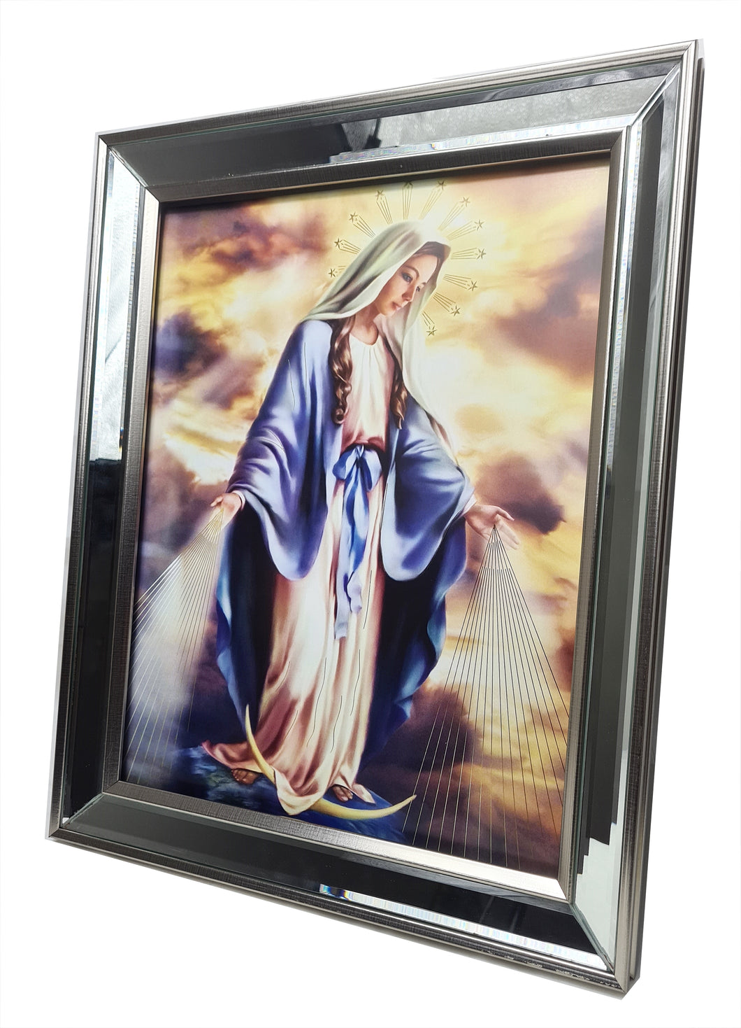 Catholic Images in Mirror Frame (28 x 36cm)