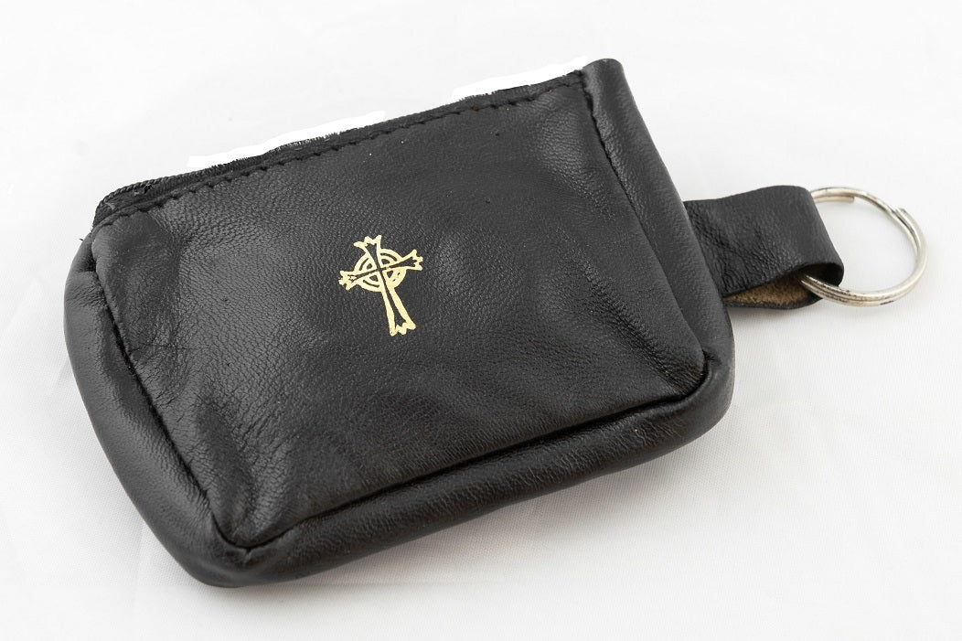 KEY RING ROSARY/COIN CASE