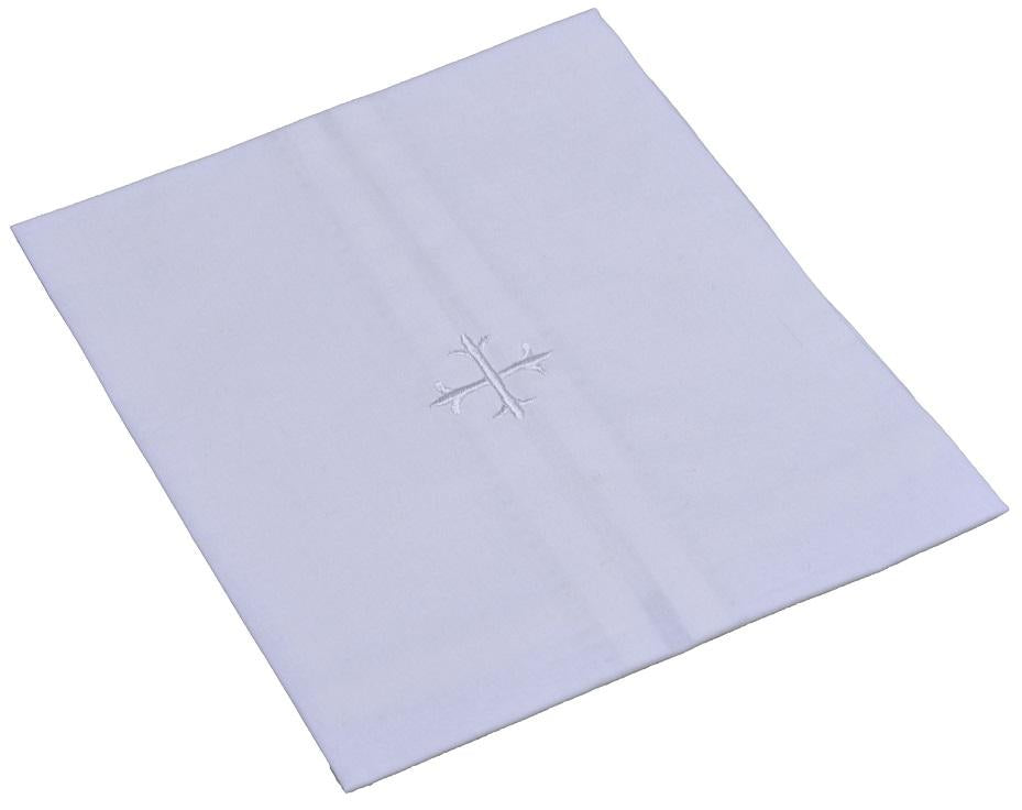 H100 White Cross,  Sold in packs of 3 (Chalice Pall, Corporal, Purificator, Lavabo Towel)