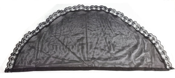Mantilla solid Black with lace trim ($20 incl. shipping)