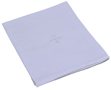 Load image into Gallery viewer, H100 White Cross,  Sold in packs of 3 (Chalice Pall, Corporal, Purificator, Lavabo Towel)