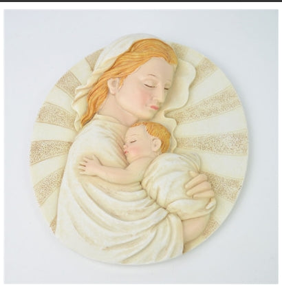 HOLY MOTHER & CHILD ORNAMENT