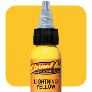 Eternal Tattoo Ink -Lightning Yellow (Pick your size)