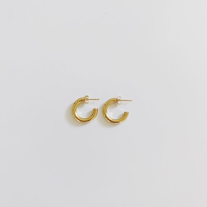 Small Gold Chunky Hoops