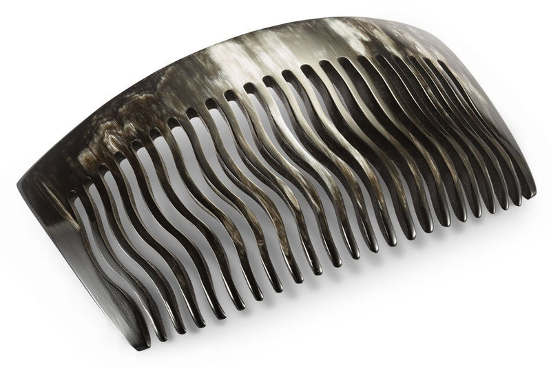 Large Hair Comb made of Dark Horn