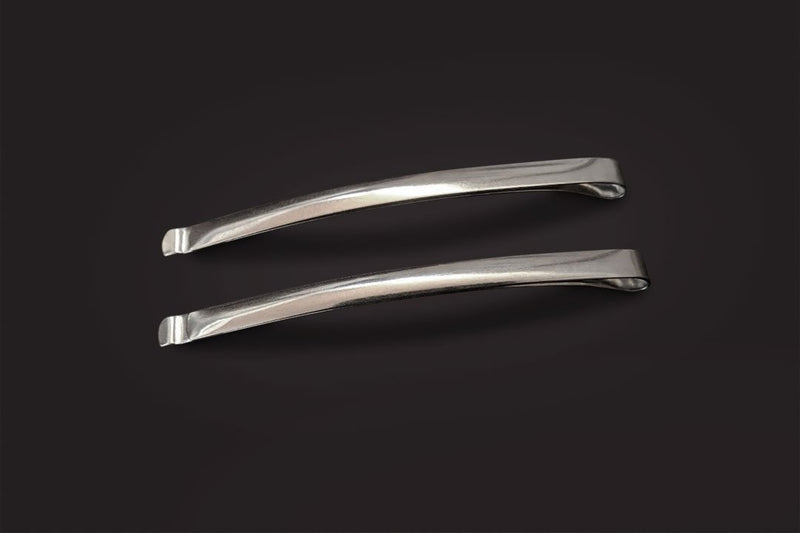 Pair of Small Narrow Metal Hair Sliders