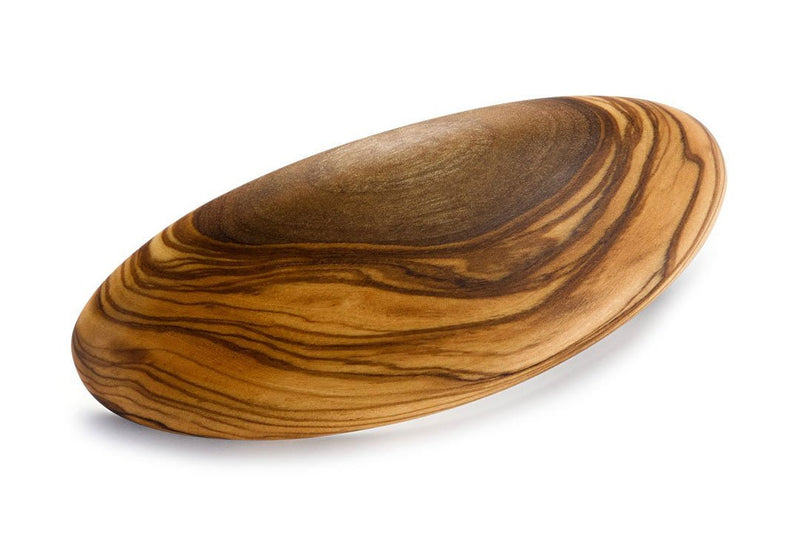 Oval Menor Barrette made of Olive Wood