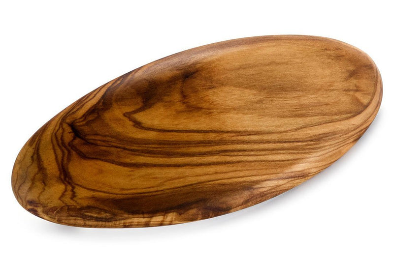 Large Oval Mayor Barrette made of Olive Wood