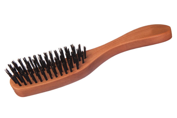 Long Shape Hair Care Brush made of waxed Pear Tree for straight, wavy or curly Hair, as well as thick Hair, 22 cm long