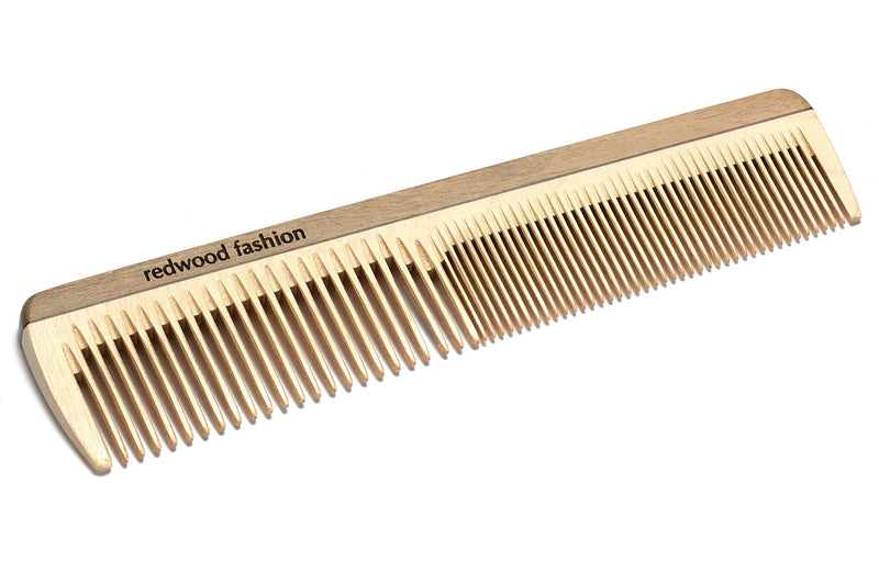 Antistatic Hairdressing-Comb made of Wood, perfect for short to medium length, straight Hair, 18 cm long